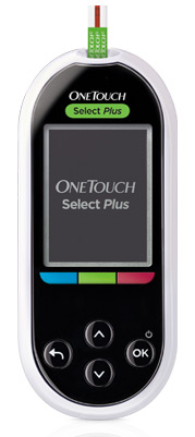 Новый глюкометр OneTouch Select Plus получил цветовую шкалу диапазона значения