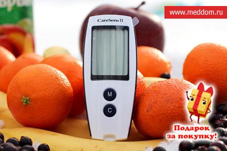 Глюкометр CareSens в ПОДАРОК при покупке 2-х упаковок тест-полосок №50