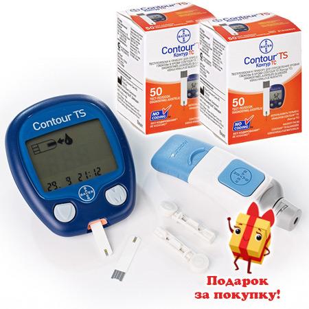 2 упаковки тест-полосок Контур ТС №50 + глюкометр Контур ТС