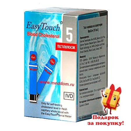 тест полоски easy touch холестерин n10